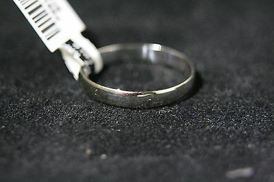 LOVELY 10K SOLID WHITE GOLD WEDDING BAND RING size 9.75