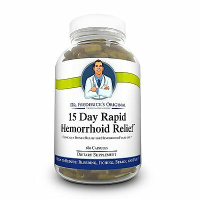 Dr. Frederick's 15 Day Rapid Hemorrhoid Pain Relief 180 Capsules Pill Treatment