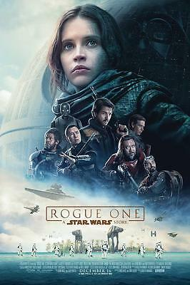 Rogue One: A Star Wars Story Theatrical Movie Poster (2016) 27x40 +Free laminate