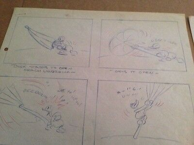 Disney's Hawaiian Mickey -Donald Duck storyboard