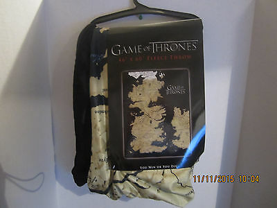 HBO Game of Thrones  Gift Throw Blanket You Win Or You Die New With Tags