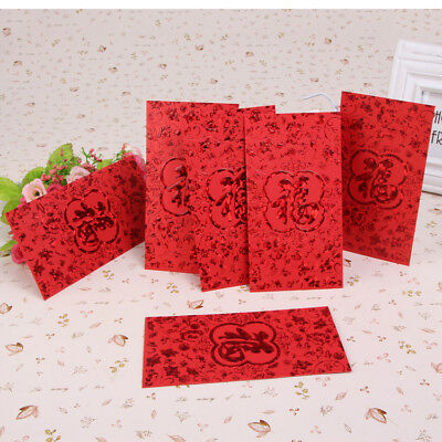 """Chinese New Year """"Fook / Fu"""" Red Packet Pocket Envelope Large Size 36 pcs,Red.福"""