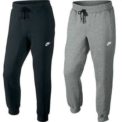 New Mens Nike Joggers, Tracksuit Bottoms, Jogging Track Sweat Pants - Grey Black