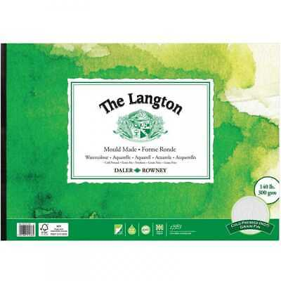 Daler Rowney Langton Watercolour Pad - 140lb / 300gsm - Cold Pressed / NOT - A4