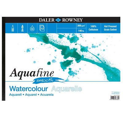 Daler Rowney Aquafine Watercolour Pad 12 Sheets HP 140lb / 300gsm - A3 SMOOTH