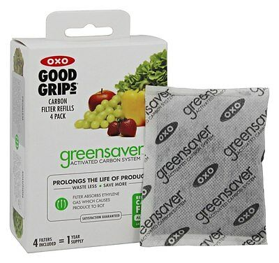OXO - GreenSaver Carbon Filter Refills - 4 Pack