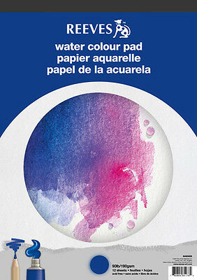 Reeves Artists Watercolour Paper Pad - 190gsm - 12 Sheets - A4