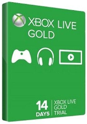 Xbox Live 14 Day Gold Trial 2 Week Membership 360 ONE console code key | 48 hour