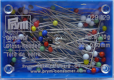 Glass head - Pins ST 9-10 gr-029 129 of Prym