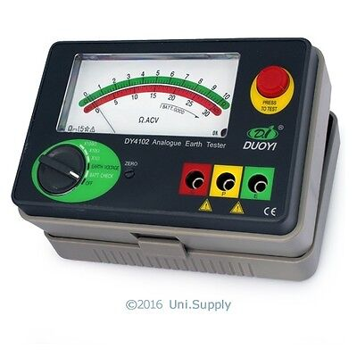 Analog Ground Earth Resistance Insulation Tester Meter 10/100/1000Ω AC30V DY4102