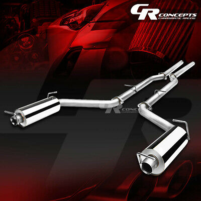 2 25 Dual Muffler Tip Catback Exhaust System For 11 14 Dodge