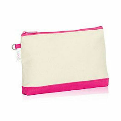 BN Thirty one mini zipper pouch organizer wallet Natural with Pink URU 31 gift