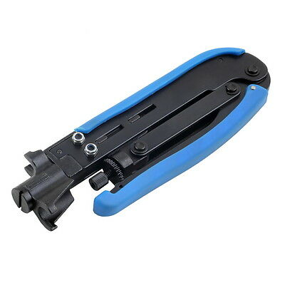RG6 RG11 RG59 Coaxial Cable Crimper Compression Tool For F Connector New XC