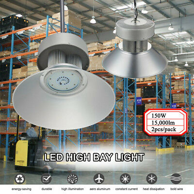 2X 150W Watt LED High Bay Light Lamp Warehouse Fixture Factory Shed Lighting