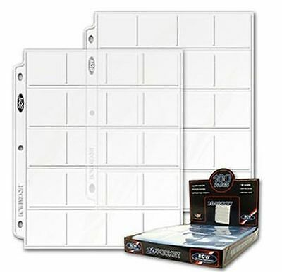 5 pages BCW coin sheets/pages  20- 2x2 pockets per sheet FREE SHIPPING IN CANADA