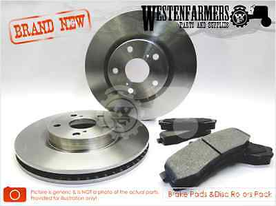 HOLDEN COMMODORE VT VX VU VY VZ Front Brake Pad & Disc Rotors Pack