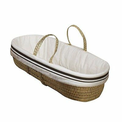 Baby Doll Bedding Hotel Style Moses Basket, Ecru Brand New!