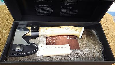 Collectable Karesuando Small Axe Hatchet Light Curly Birch Handle Stainless