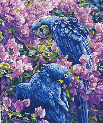 Parrots In Paradise 50 X 60 Cm  New Design To Stitch- Modern And So Colorful!
