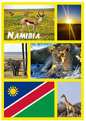 Namibia (South Africa) - Souvenir Novelty Fridge Magnet - Sights / Towns - Gift