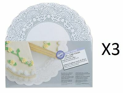 "Wilton 10"" Show 'N Serve Cake Board 10 Pack Display Plate Dish Tray (3-Pack)"