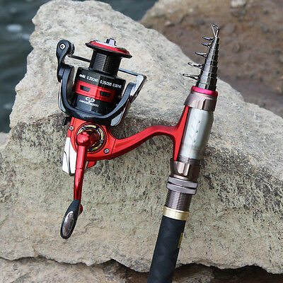 Travel Telescopic Carbon Fishing Rod Kits Portable Fishing Pole with Reel Combos