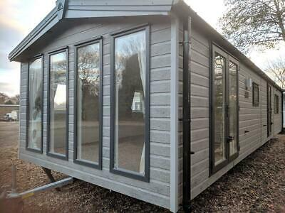 2020 Sunrise Lodge   38x13 Mobile Annexe   3 bed Static Cabin   CanExel Cladding