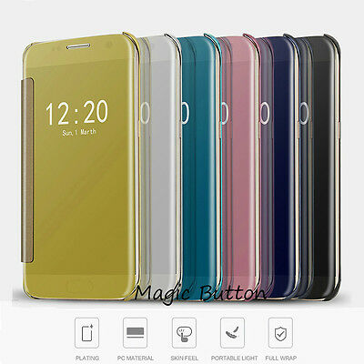 Slim Thin Luxury Mirror Flip Case Cover For Samsung Galaxy S8 Plus S7 S6 edge