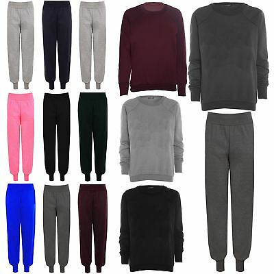 Womens Ladies Tracksuits Jogger Fleece Sweat Tracks Jog Bottoms Pants Plus Size