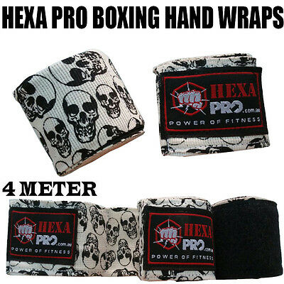 SKULL Hand Wraps Boxing MMA UFC Wrist Guards cotton Bandages gloves straps