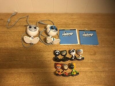 Lot of 7 Small And 2 Large Funkey Funkies electronic game toy figures collection