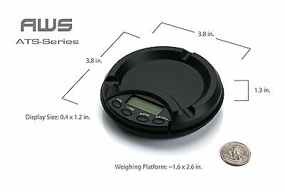 AWS American Weigh Scales Digital Ash Tray Scale 500g by 0.1g