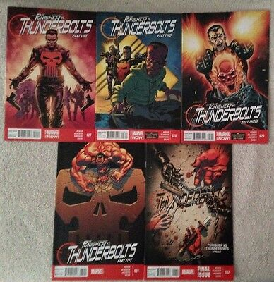 PUNISHER vs THUNDERBOLTS - 5 Issue Lot - #27, 28, 29, 31, and 32 - Marvel NOW!
