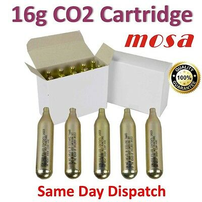 MOSA 16g CO2  Cartridge Bike Tyre Bicycle Inflator Pump C02 Food Grade Capsules