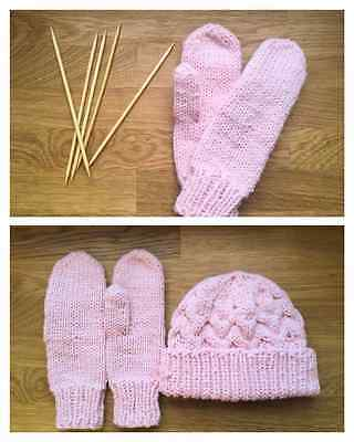Hand-made hat and mittens set