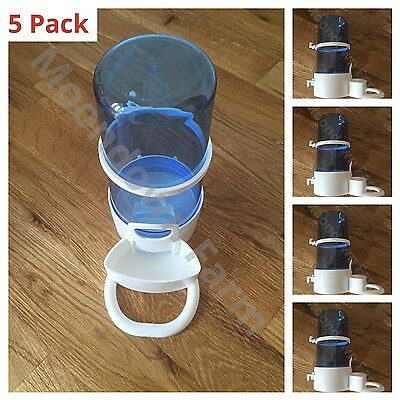 5 x Bird Feeder Water Drinker Seed Clipper Fountain Cage Budgie Finch Cockatiels