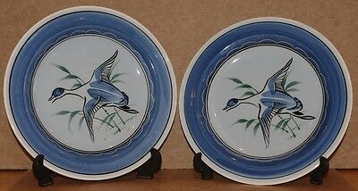 ### Lovely Pair Of Vintage Holkham Pottery Plates ###