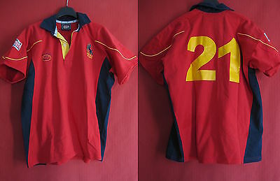 Maillot Rugby Espagne World Cup 2007 Vintage Porté n° 21 TBE Spain jersey - L