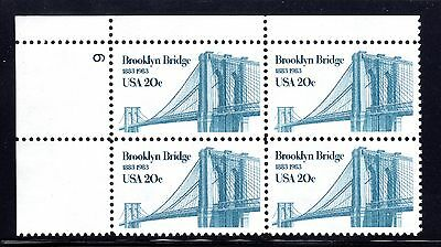 US Stamp #2041 EFO SHORT TRANSFER  note left end of bridge upper right stamp