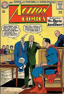 ACTION COMICS VOL3 ISSUE 301 TO 500 1963 TO 1979 Feat SUPERMAN