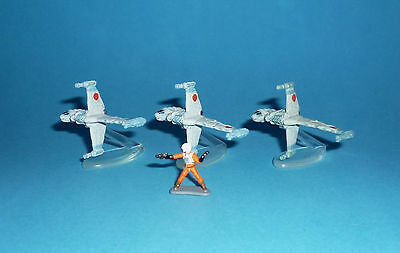 STAR WARS Micro Machines - 3x B-WING + WEDGE ANTILLES figure lot Rebels