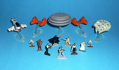 STAR WARS Micro Machines - CLOUD CITY lot - Bespin Lando HanSolo BobaFett Slave1
