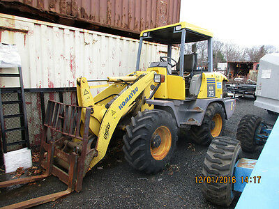 Used 2004 Komatsu WA75-3 RTL  Good Condition