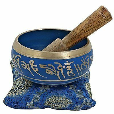 4 Inches Hand Painted Metal Tibetan Buddhist Singing Bowl Musical Instrument for