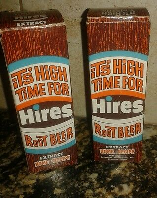 1960's Hires Root Beer Extract Full In Box - Sealed