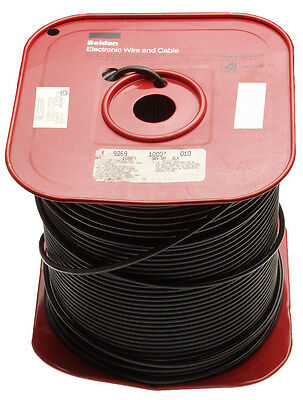 Belden 9269 1000' 22 AWG 95 Ohm RG62A/U Coax Cable Black PVC 95Ω RG62 (Was $744)