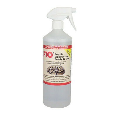 F10 Disinfectant Ready to Use Spray Reptile Bird Vivarum Cleaner Safe 1 Litre