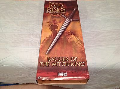United Cutlery Lord Of The Rings UC2595 Dagger Of The Witch-King #0832  **Rare**