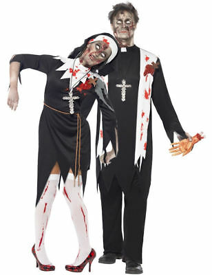 Zombie Nun & Priest Fancy Dress Costume Living Dead Zombies Halloween Costumes