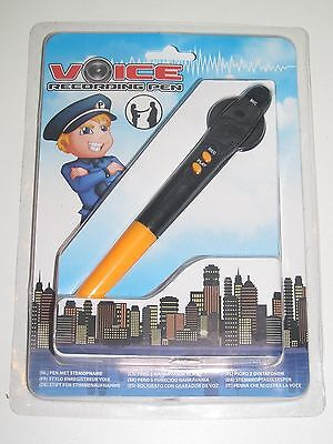 Stylo Enregistreur de Voix Noir & Orange Voice Recording Pen